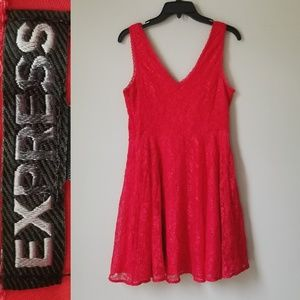 EXPRESS NWOT Fit n Flare Lace Dress